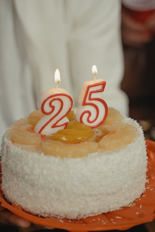 A Close-Up Shot of a Birthday Cake