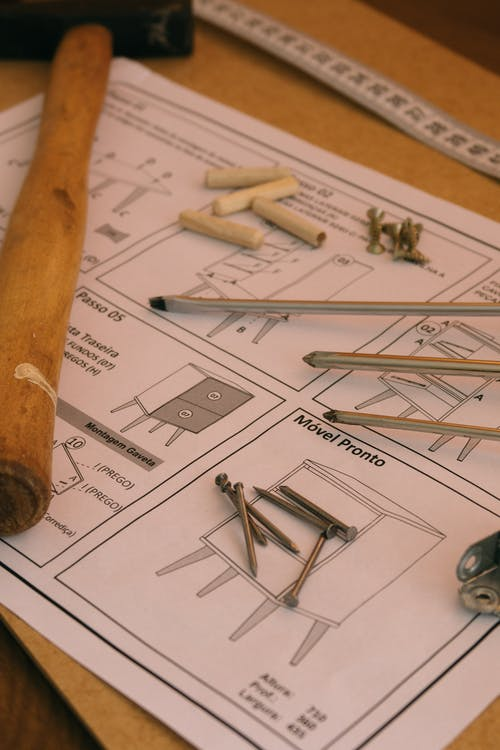 Instruction to furniture assembly with instruments