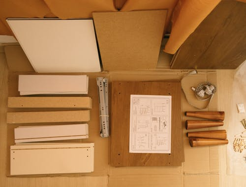 Details of cabinet drawer to assemble