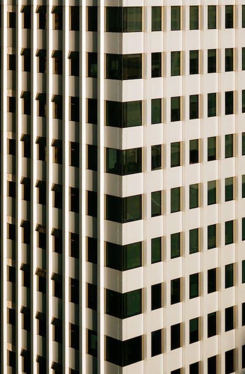 Bâtiment Moderne Abstrait Avec Fenêtres En Verre