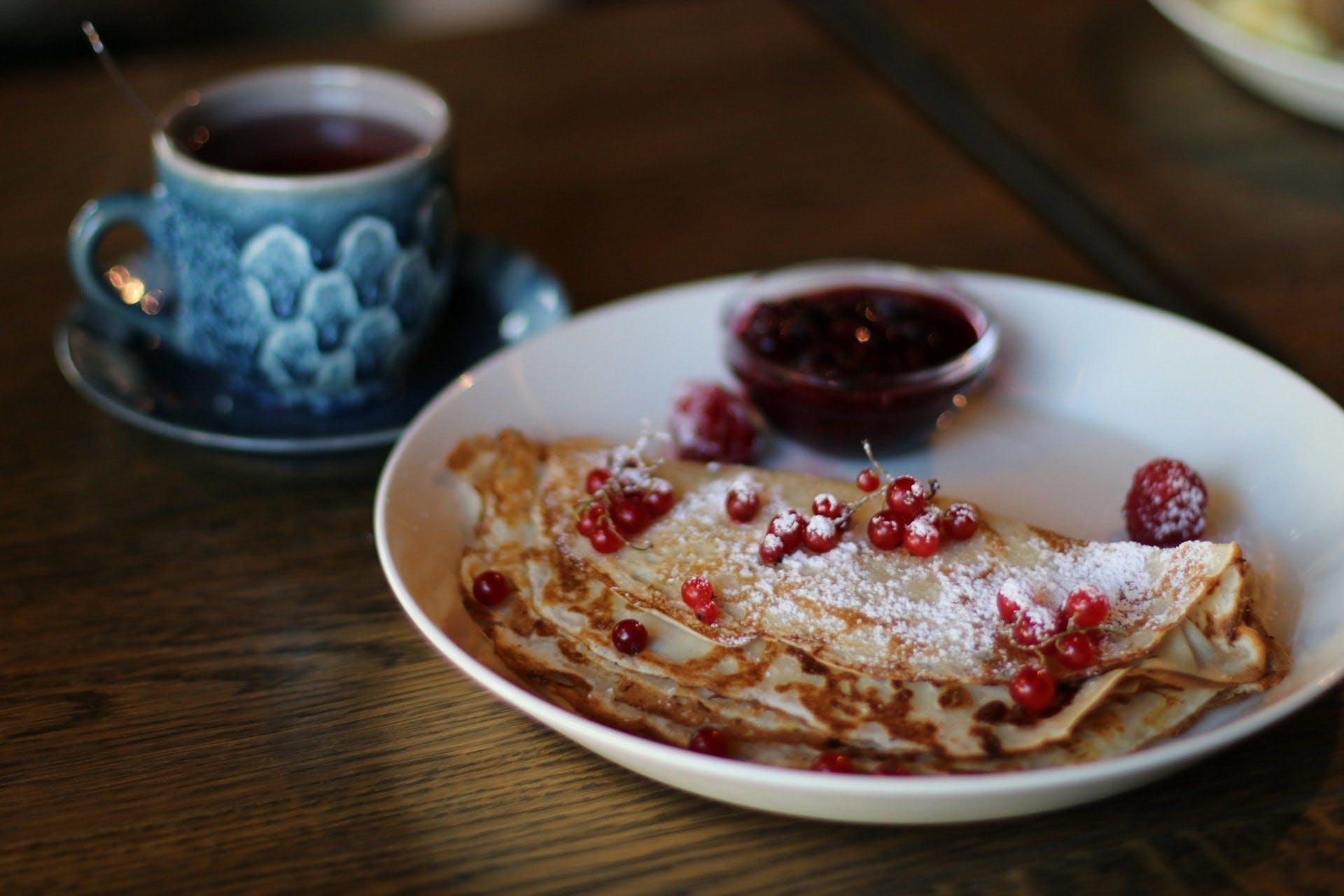 berry, breakfast, coffee