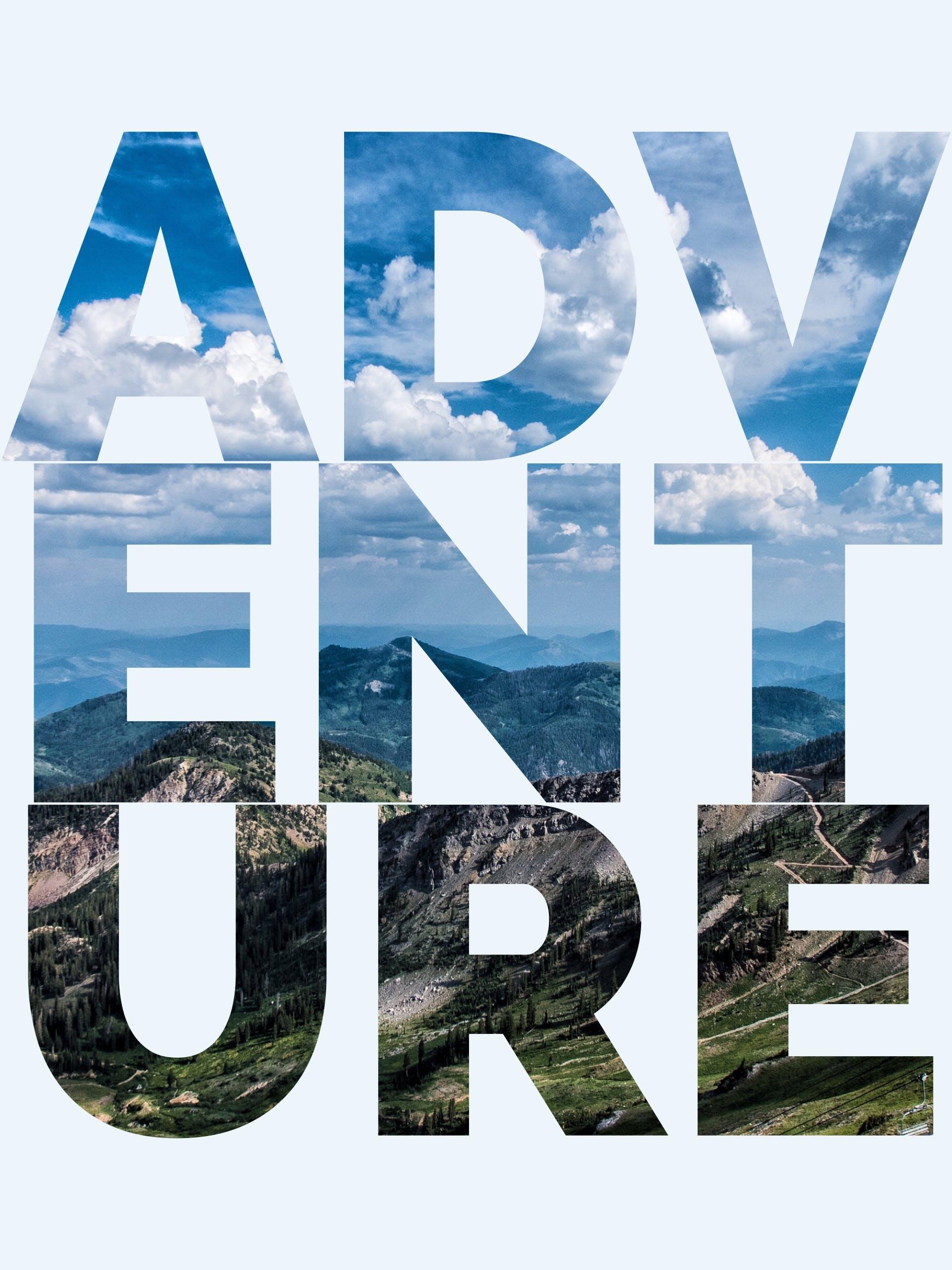 Free stock photo of mountains, sky, adventure, text
