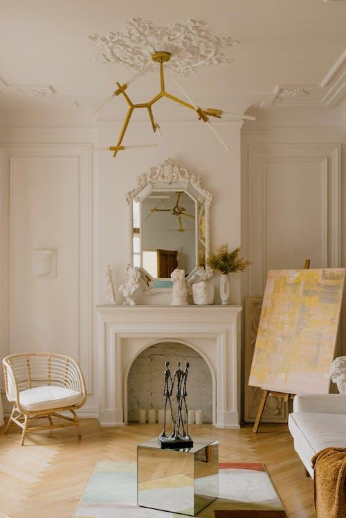Fotos de stock gratuitas de adentro, asiento, candelabro, casa