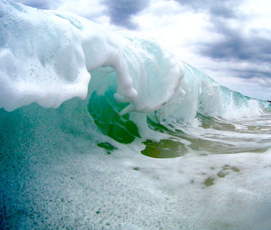 bølge, vinke