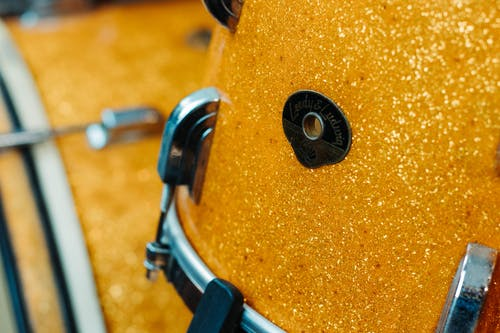 Free stock photo of gold sparkle, leedy and ludwig, vintage tom drum