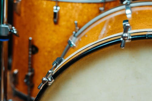 Free stock photo of gold sparkle, leedy and ludwig, vintage bass drum