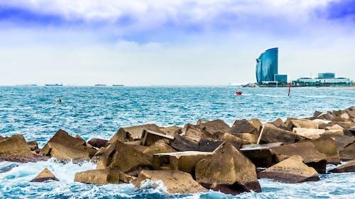 คลังภาพถ่ายฟรี ของ คลื่น, ชายหาด, ทะเล, บาร์เซโลนา