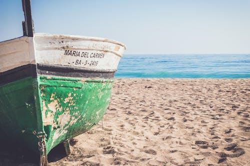 คลังภาพถ่ายฟรี ของ ชายหาด, เรือ