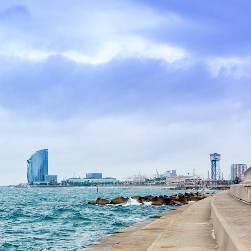 คลังภาพถ่ายฟรี ของ ชายหาด, ทะเล, บาร์เซโลนา