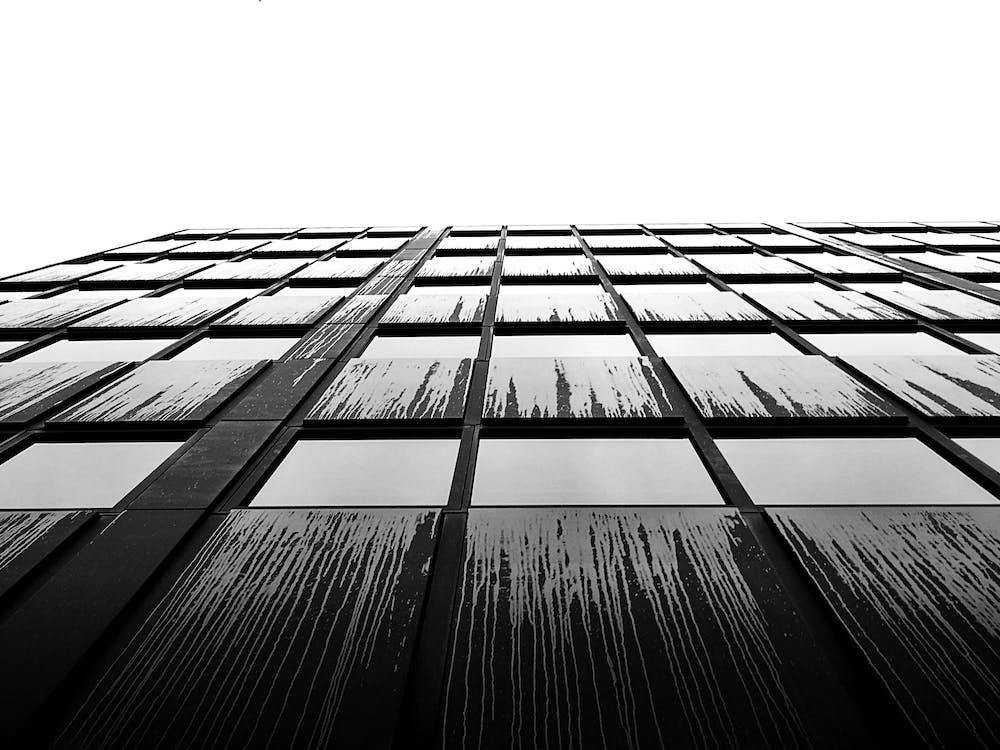 acier, architecture, articles en verre