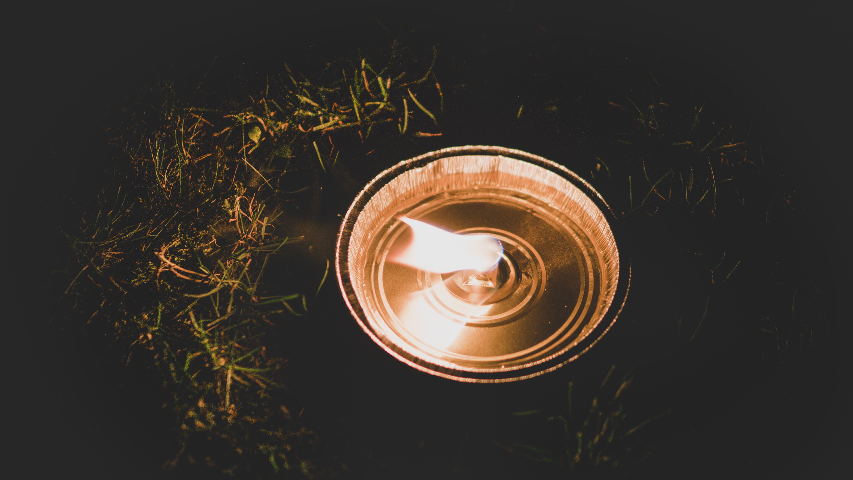 Lit Kerosene Lamp