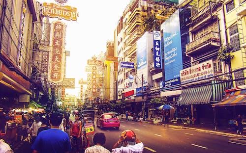 Δωρεάν στοκ φωτογραφιών με Άνθρωποι, δρόμος, δύση του ηλίου, Μπανγκόκ