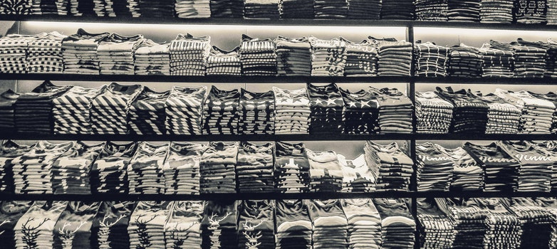 Free stock photo of black-and-white, industry, clothes, clothing