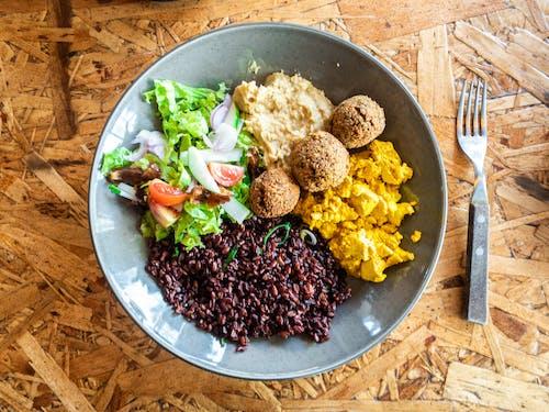 Free stock photo of breakfast, breakfast bowl, falafel