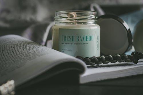 Immagine gratuita di barattolo di vetro, benessere, bianco, candela