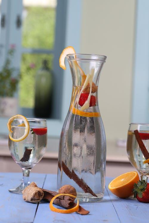 A Detox Drink On Clear Glass Bottle