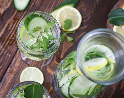 Imagine de stoc gratuită din apă, băutură sănătoasă, castravete