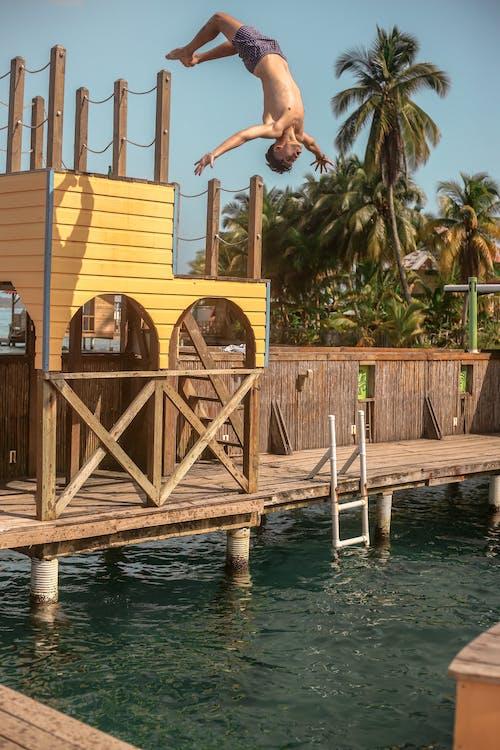 Brown Wooden Dock over Body of Water
