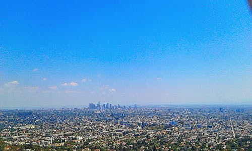 Free stock photo of Los angeles  Bird's eye view