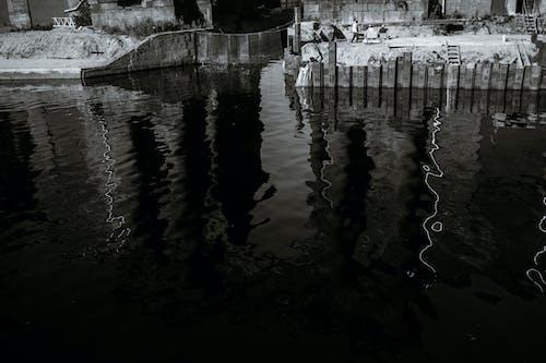 Imagine de stoc gratuită din alb-negru, apă, apă curgătoare