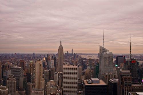Foto d'estoc gratuïta de # newyork # city # usa # view # views # empirestatesbuilding # bigapple, alba, arquitectura, capvespre