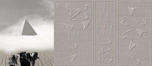 Ảnh lưu trữ miễn phí về chữ tượng hình, kim tự tháp, nhà thám hiểm, Sa mạc