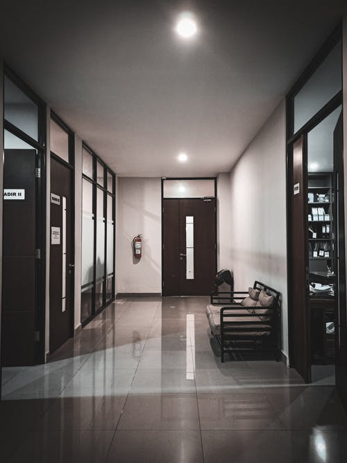 Interior of modern office hall