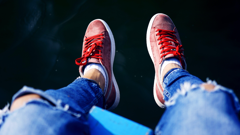 feet, footwear, person