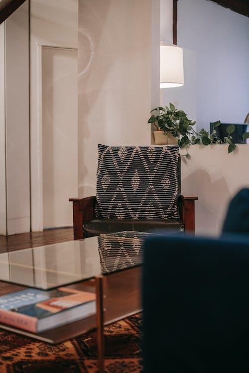 Design Interior Moderno De Sala De Estar Aconchegante Com Móveis