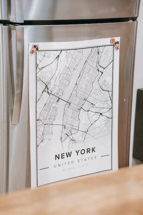 Kaartposter Met De Titel New York In Huis