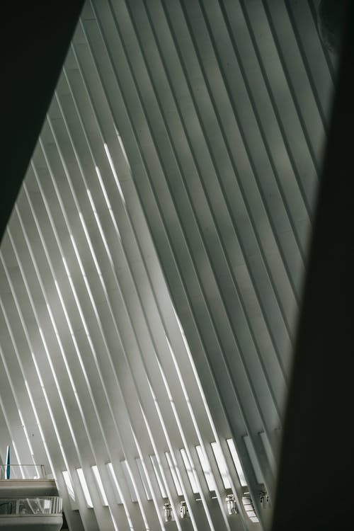 Telhado Simétrico Em Edifício Contemporâneo à Luz Do Sol