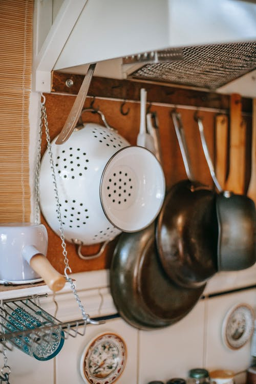 Part of kitchen with utensils