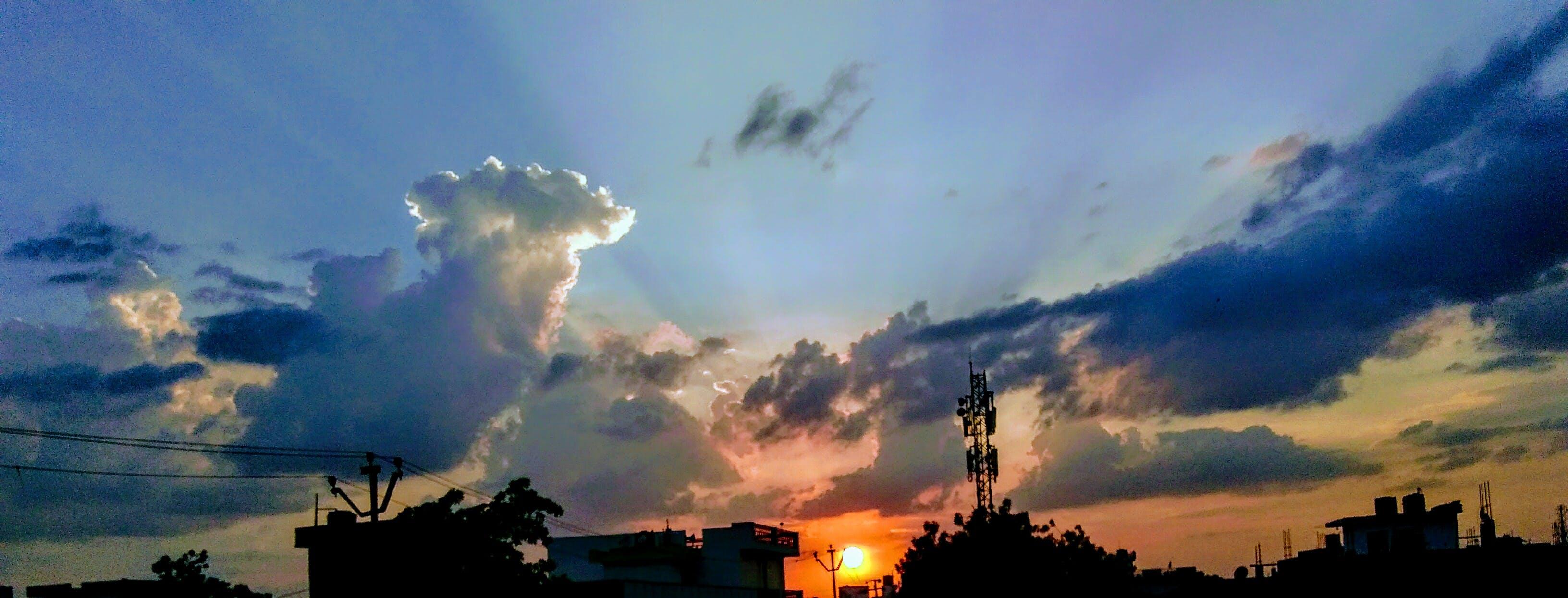 Panoramic Photo of Sunset