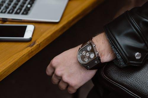 Person Wearing a Wristwatch
