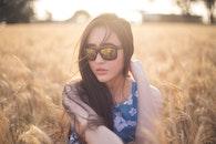 nature, sunglasses, woman