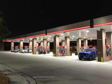Free stock photo of gas station