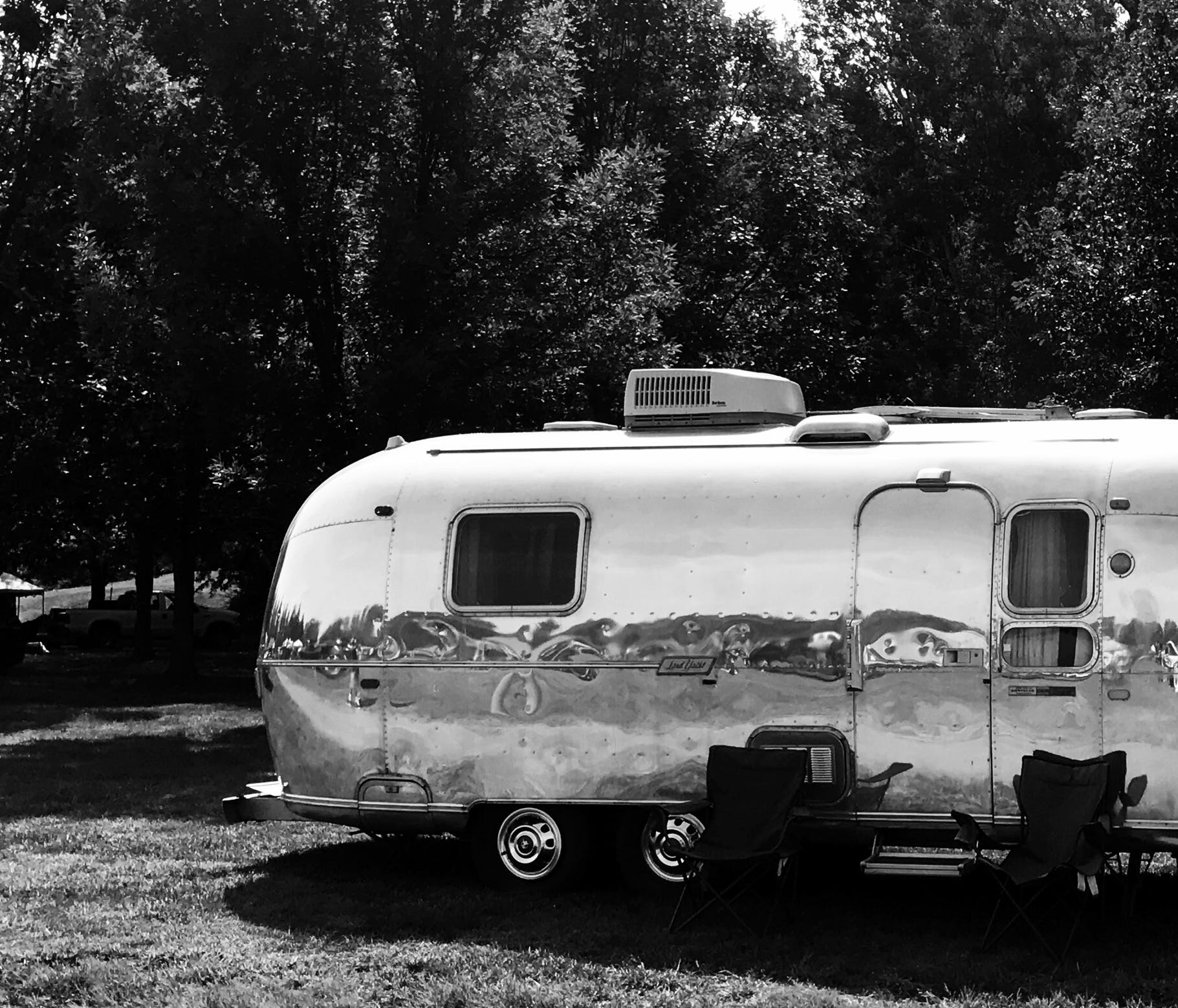 Free stock photo of silver, camper