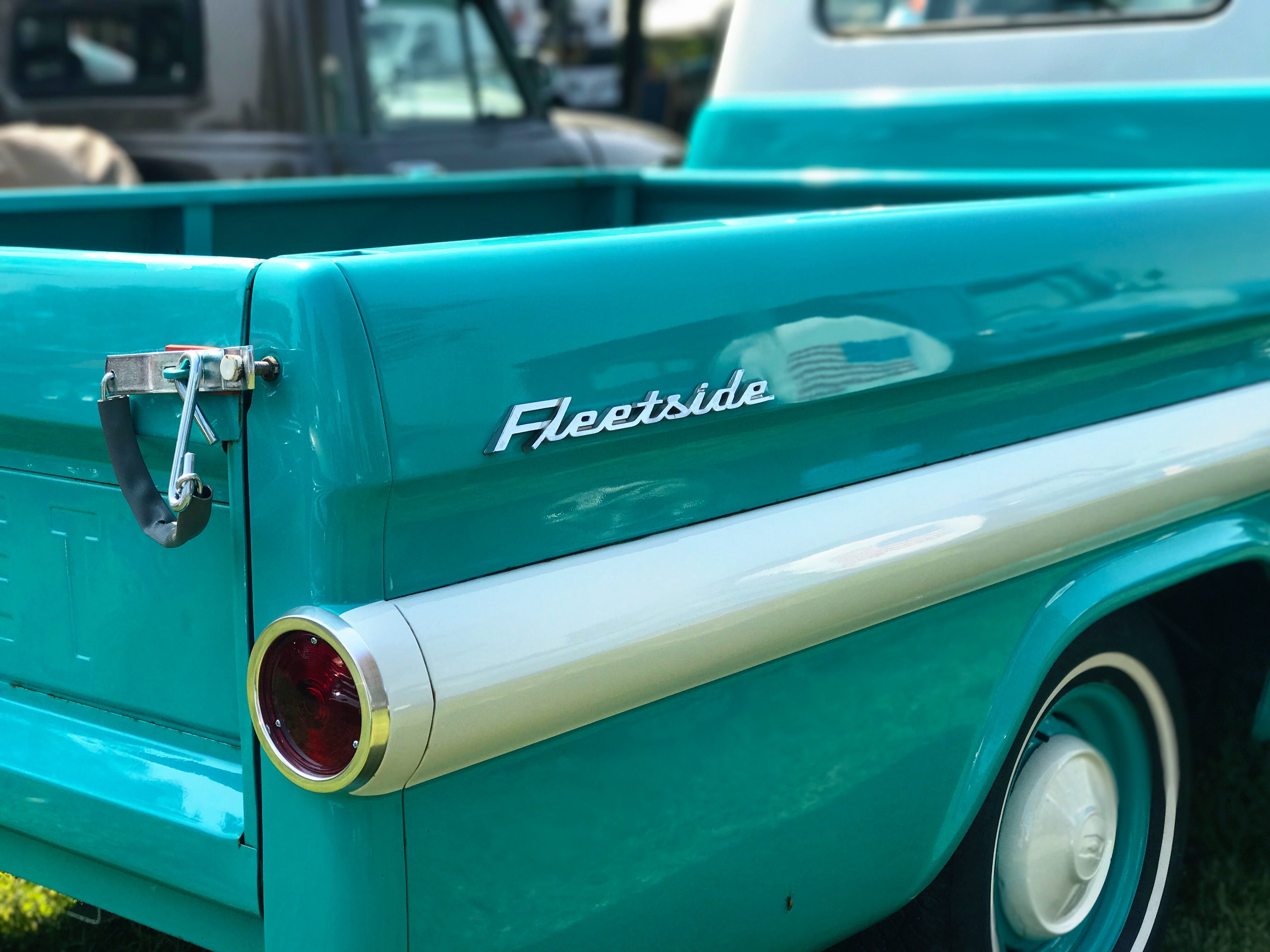 Teal Chevrolet Pickup Truck