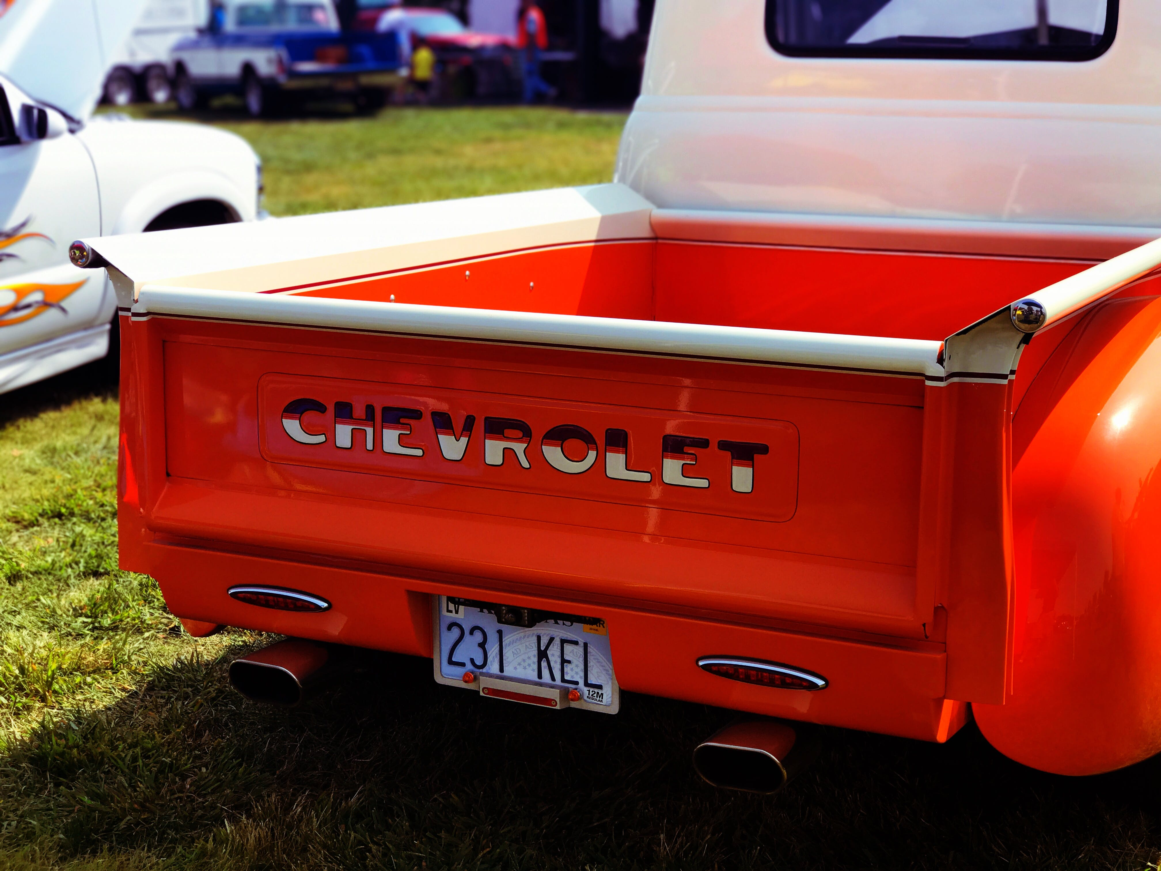Red Chevrolet Tailgate