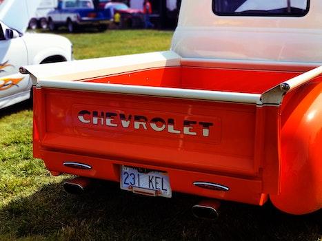 Kostenloses Stock Foto zu auto, fahrzeug, vintage, orange