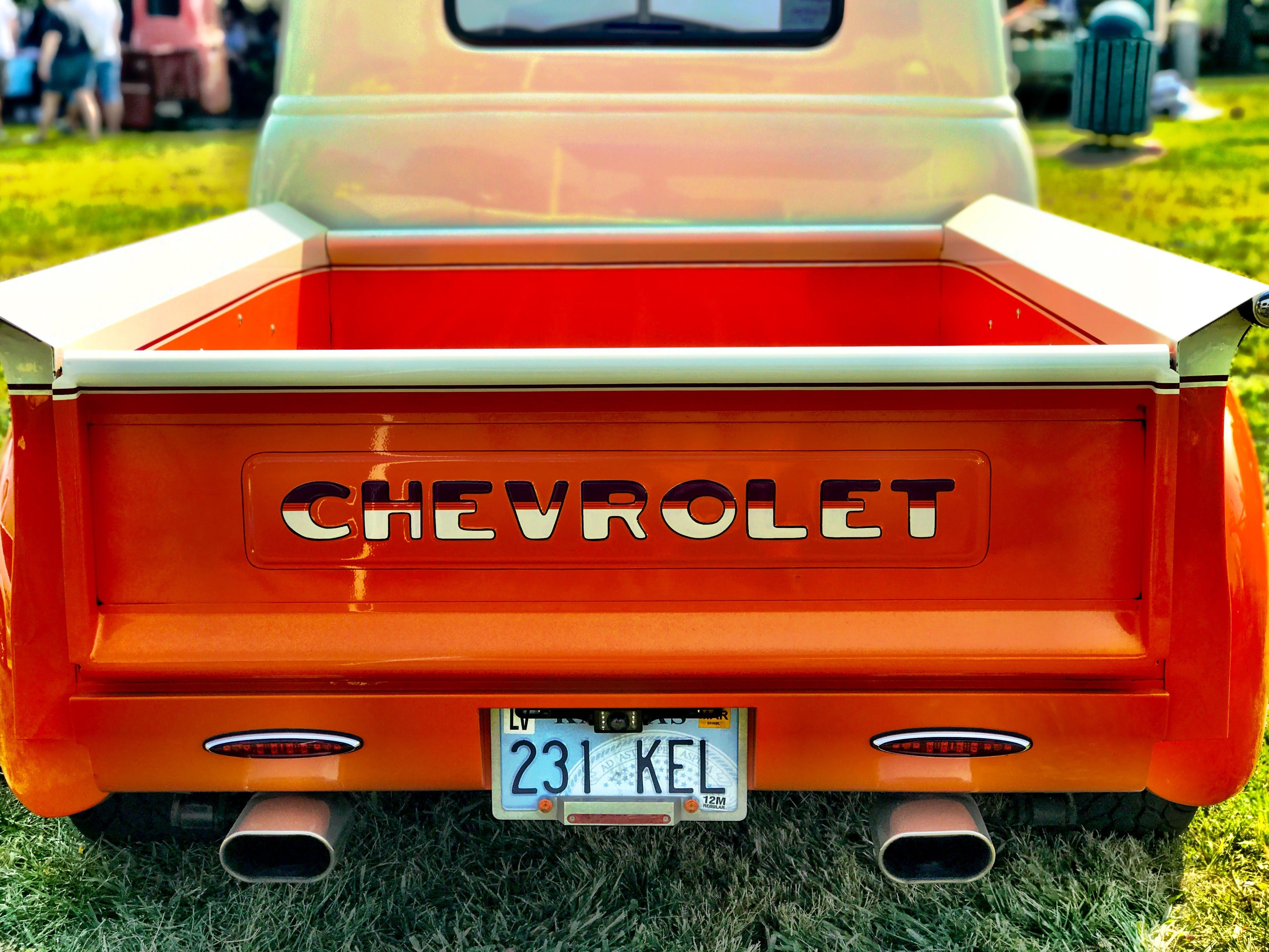 Free stock photo of orange, classic, truck