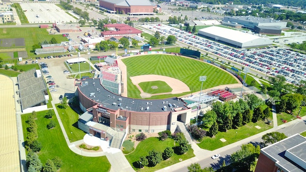 Free stock photo of baseball, aerial view