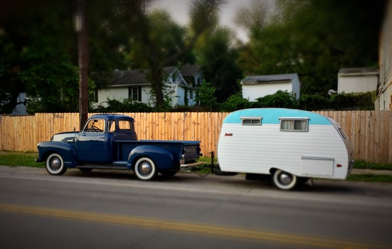 Free stock photo of truck, camper
