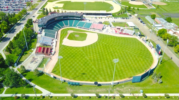 Free stock photo of aerial, stadium, baseball field