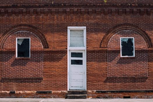 Free stock photo of wall, door, brick