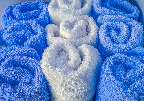 Free stock photo of blankets, blue, cotton