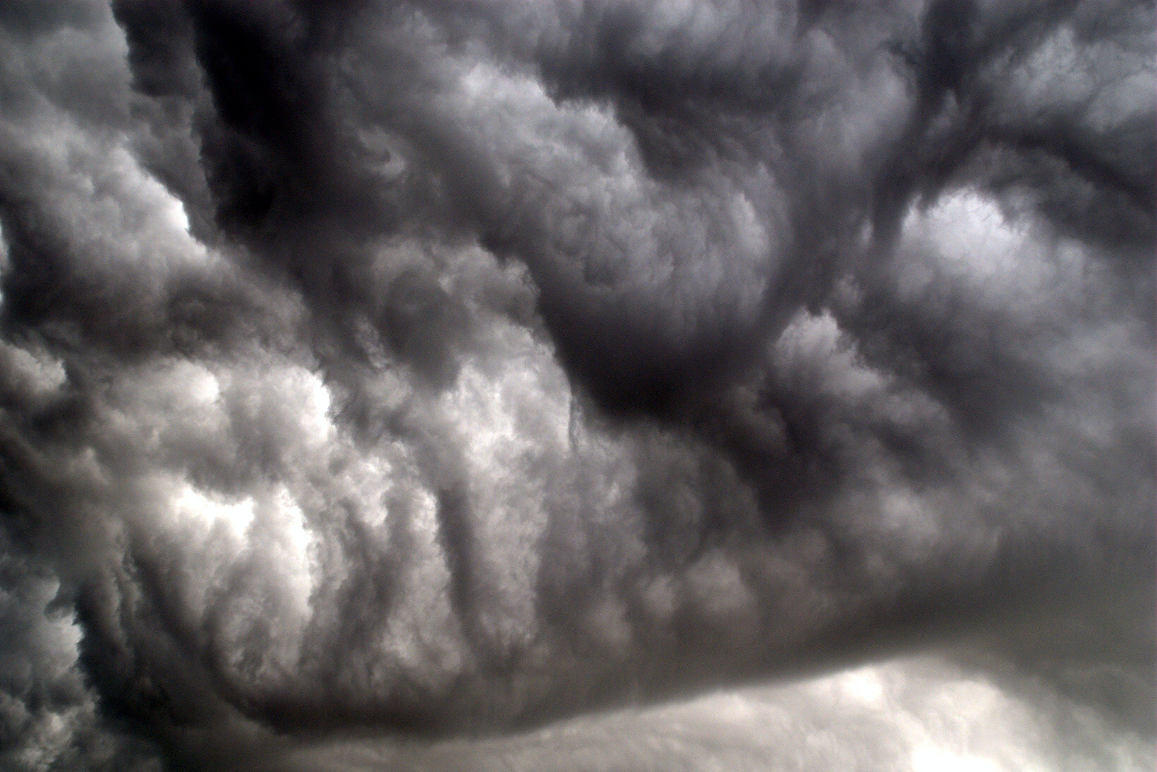 구름, 어두운, 우울한, 천둥의 무료 스톡 사진