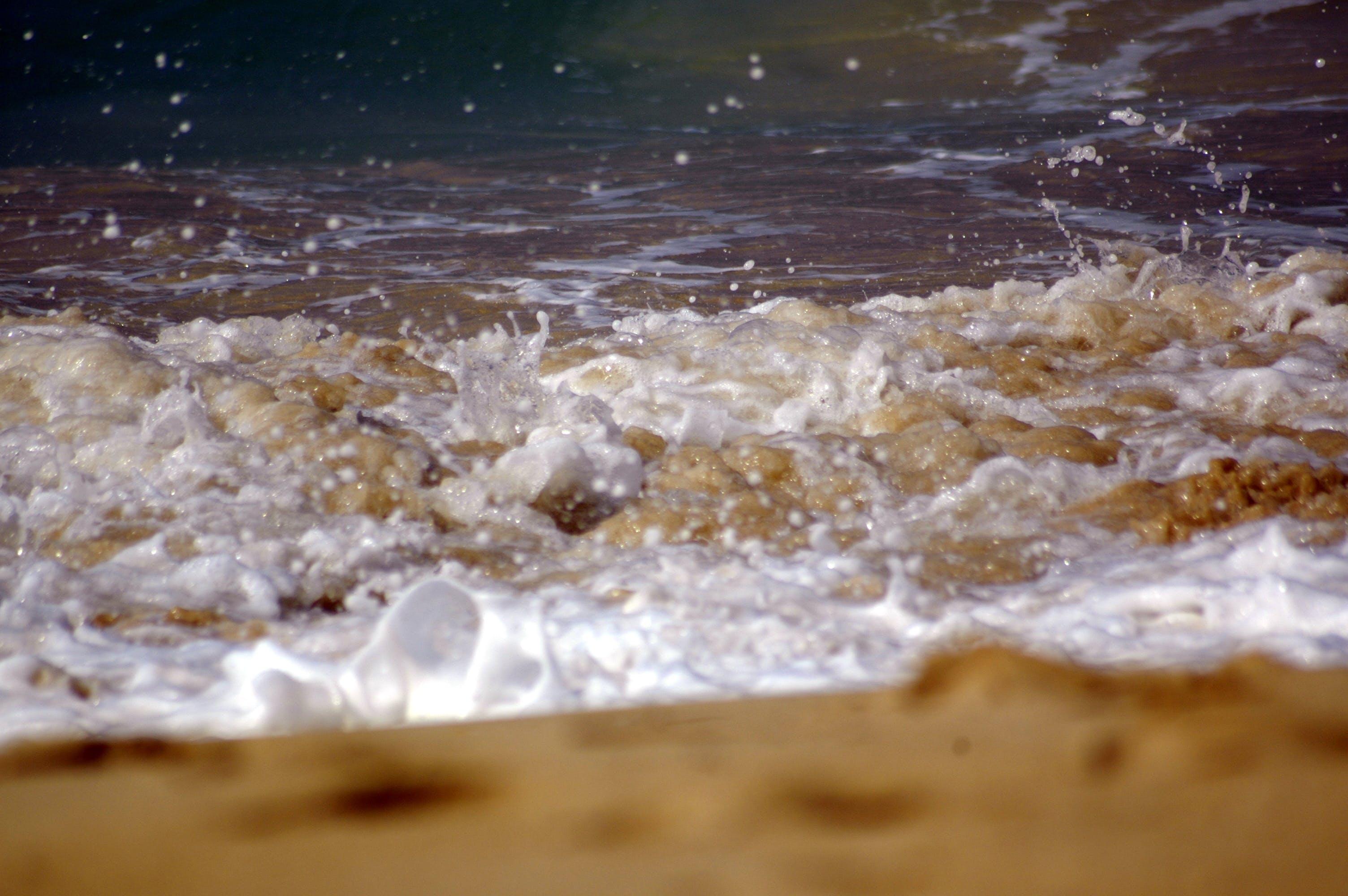 모래, 물, 서핑하다, 해변의 무료 스톡 사진