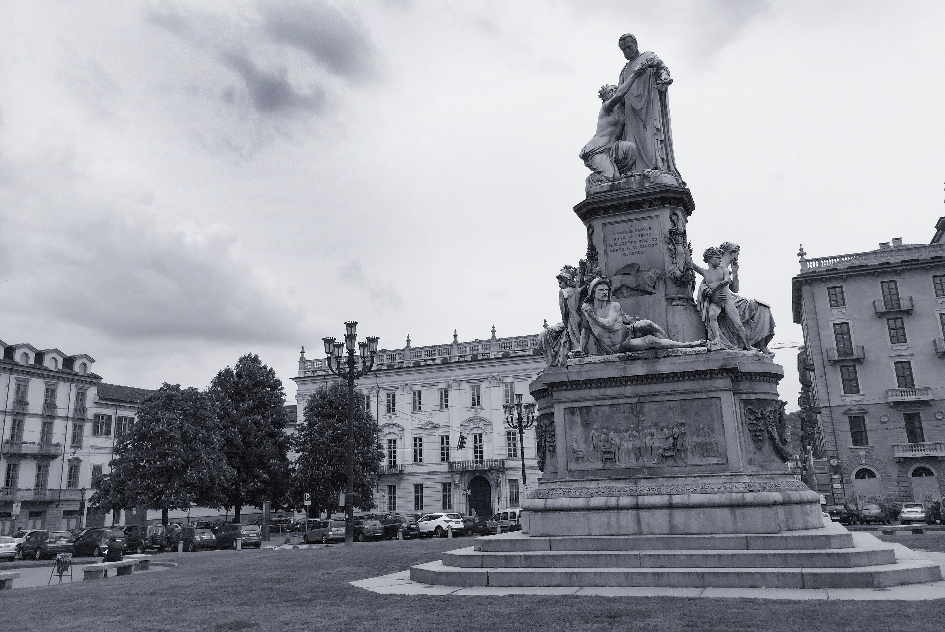 Free stock photo of black and white, buildings, cavour, city