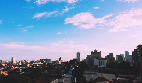 Free stock photo of city, sky, clouds, buildings